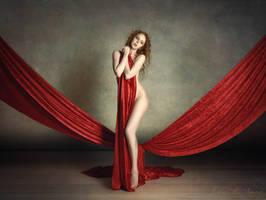 Gemma in Red Velvet by Fox2006