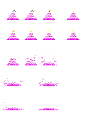 Exploding Cake Sprites by obake-the-sincere