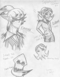 Splatoon Sketches #1 by FenikkusuSapphire