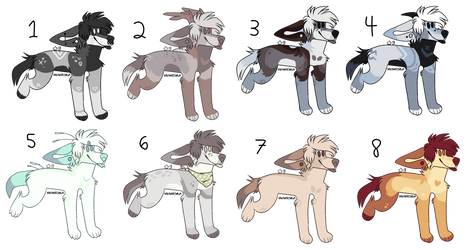 400p emo dog adopts 2/8 open (PRICE REDUCED) by milkywhites