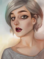 Lady in Grey by EponaN64