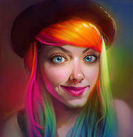 Rainbow Hair! by EponaN64