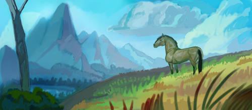 Landscape Practice by EponaN64