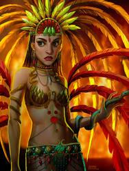 Phoenix/Snake Samba Dancer by EponaN64