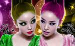 Wallpaper Ye-ara ver Double by RainboWxMikA