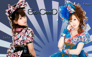 Wall Ex-ceed Koharu and Junjun by RainboWxMikA