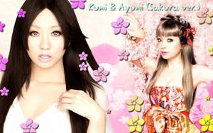 Wall Ayumi y Kumi Sakura ver by RainboWxMikA