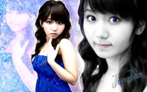 Wallpaper JunJun blue ver by RainboWxMikA