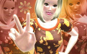 Wallpaper blondie girl by RainboWxMikA