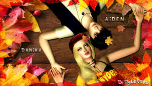 Wallpaper Aiden and Danika autumn ver. by RainboWxMikA