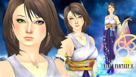 Wallpaper - Yuna (Final Fantasy X) Sims 4 ver. by RainboWxMikA