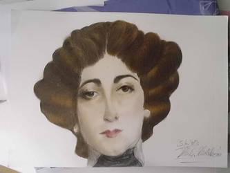 Female head from Giovanni Boldini by Zmijeee