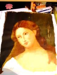 Female head from Titian by Zmijeee