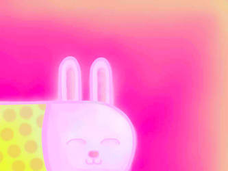 Smiling bunny by Zmijeee