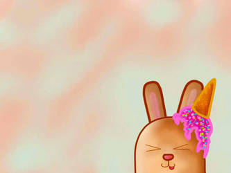 Ice cream bunny by Zmijeee