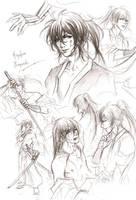 Kyoshiro doodles by Lehanan