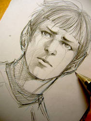 Spock doodle by Lehanan