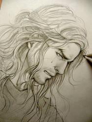 Thor doodle by Lehanan
