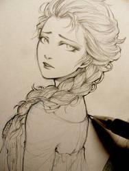 Frozen - Elsa doodle by Lehanan