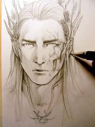 The Hobbit - Thranduil WIP by Lehanan