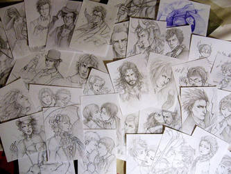 Sketches, sketches everywhere. by Lehanan