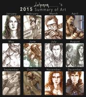 2015 Summary of Art by Lehanan