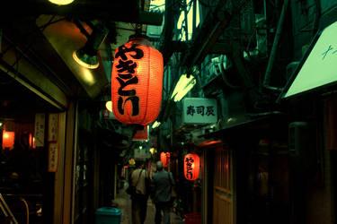 old street in shinjyuku 2 by weiweihua