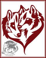 Tribal Wolflovepair by NathalieNova