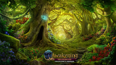 Awakening VII : The Golden Age - Forest pathway by Mardenoir