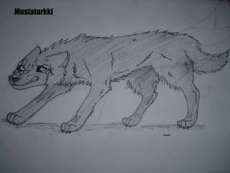 Mustaturkki. Blackfur by WolfQuestYamato