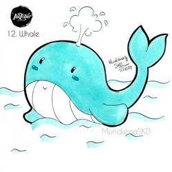 [Inktober 2018] 12. Whale by MundienaSKD