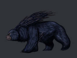 Bestiary- Black Dire Bear by Crystaldemon93