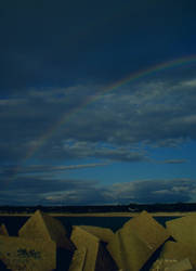 Another rainbow at the beach by amadina