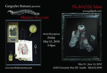 Gargoyles Art Show - May 21st by MorbidAnatomyArt