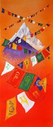 Prayer Flags Everest by mr-macd
