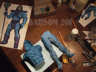 Skeletor Masters of the Universe sculpture by BaRs0m