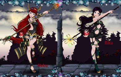 Yami Princess Neko and Riku by YukiAtem12