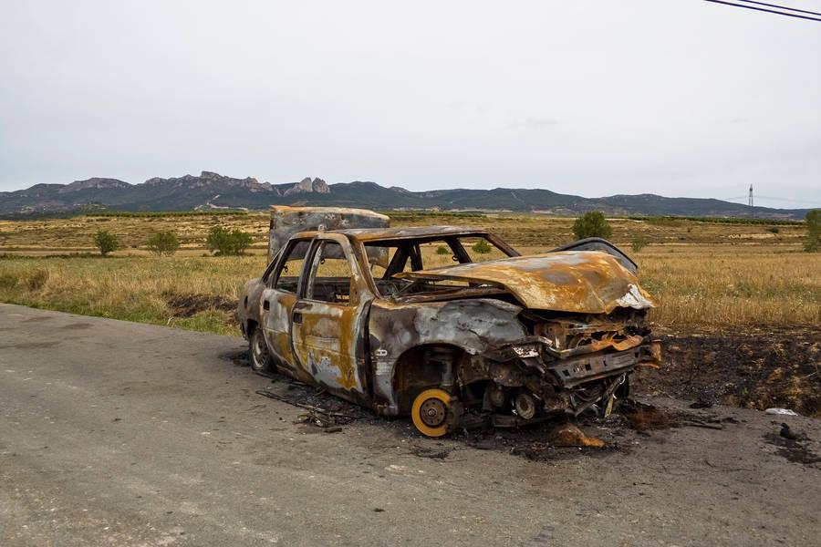 burned car 2 by ana-ene-eme