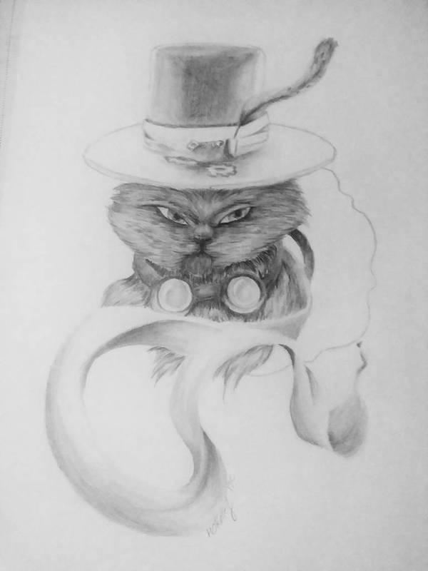 Steampunk Cat by BlackCatStudiosArt