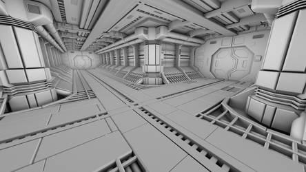 Spaceship Corridor by sanchiesp