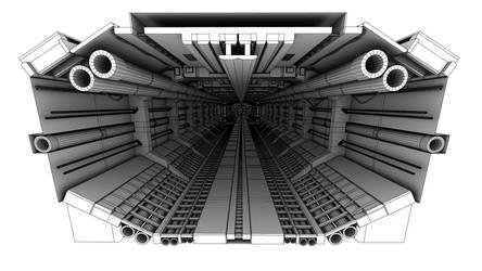 Spaceship Corridor wire by sanchiesp