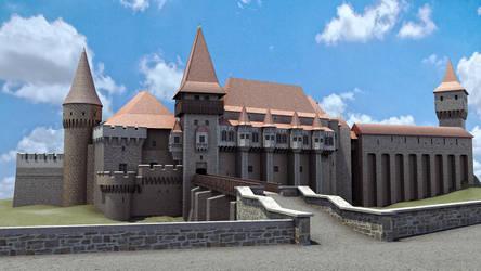 Corvin Castle 3d Model by sanchiesp