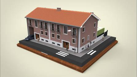 Semi Detached House Exteior by sanchiesp
