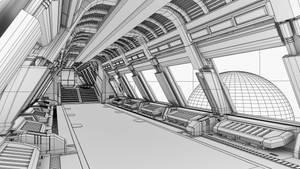 Spaceship-corridor- 2 by sanchiesp