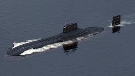 Submarine Typhoon-class by sanchiesp