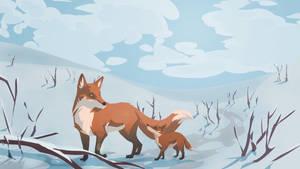 The Winter Walk by meowmeowmelody
