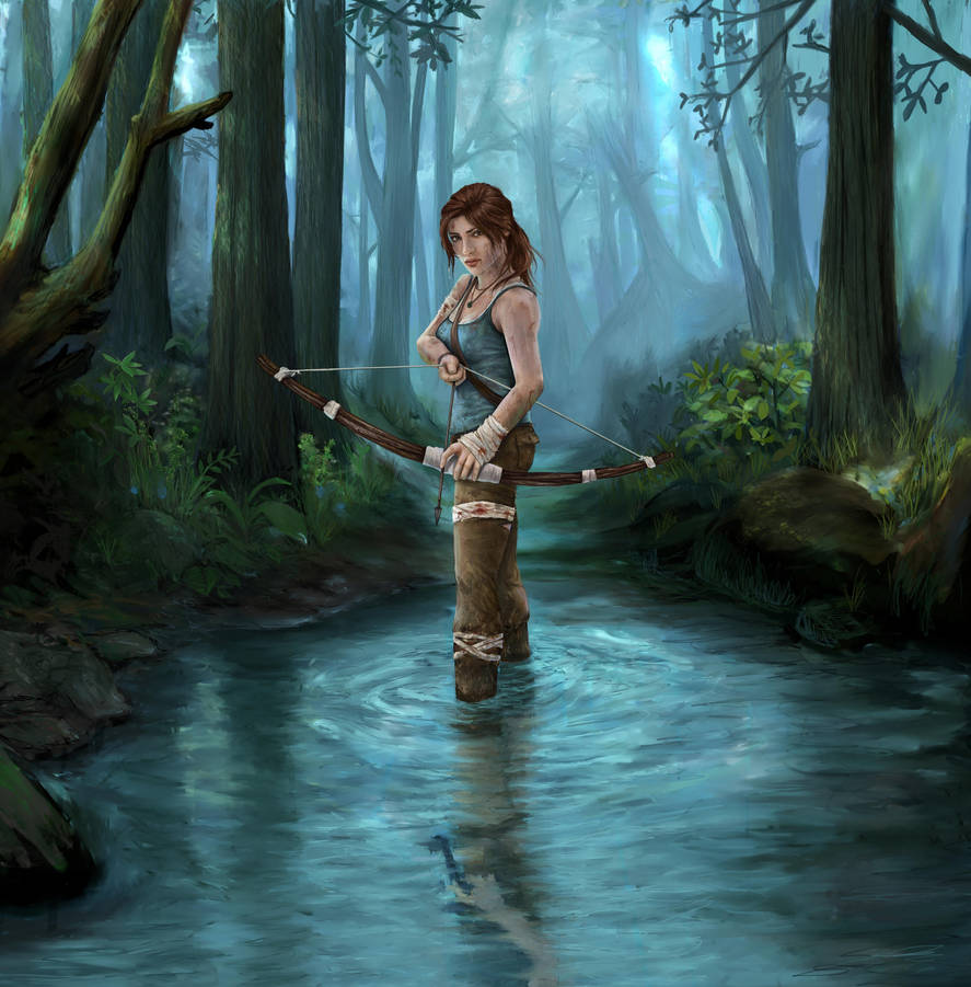 Art Lara Croft Shadow Of The Tomb Raider Desktop Wallpapers: Lara Croft Tomb Raider By Pencilsketches On
