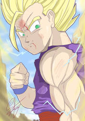 Super Sayajin 2 Gohan by ymklooster