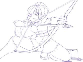 Elven Archer - Akiya by ymklooster