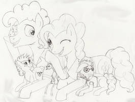 CheesePie Family by RainstormCheetah